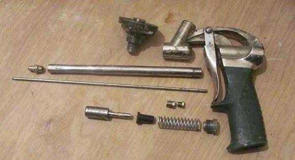 Засохла монтажная пена в пистолете что делать