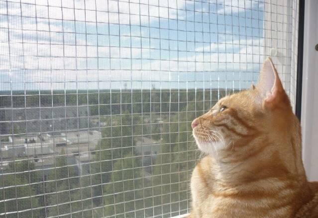 Сетки на окна (Антикот)- защита кошек от выпадения.