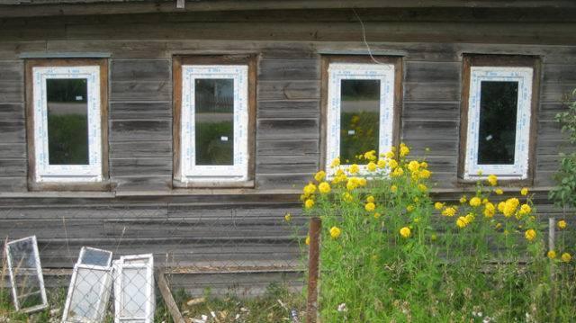 Заменить окна в деревянном доме